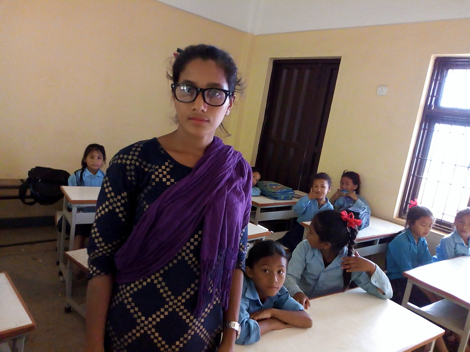 The new teacher Kalpana
